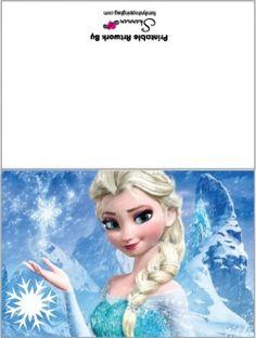 Card 2, Frozen, Invitations - {Free} Printable