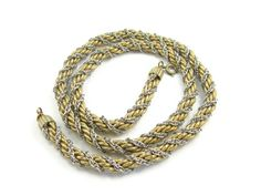 Vintage Napier Twisted Rope Necklace Two Tone by EclecticVintager