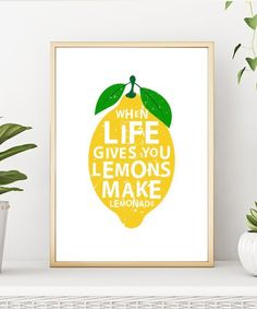 Modern When Life Gives You Lemons Make Lemonades Kitchen Decor Canvas Painting Prints Poster Wall Art Pictures Home Decorative Canvas Poster, Poster Wall, Canvas Art Prints, Painting Prints, Canvas Wall Art, Paintings, Wall Art Pictures, Canvas Pictures, Images D'art