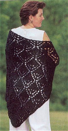 Diamond Knit Shawl - an old pattern with new potential...