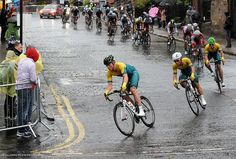 The bad weather caused for difficult cycling conditions.