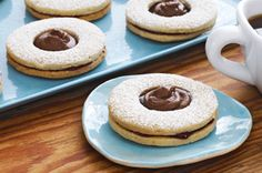Chocolate-Topped Linzer Cookies recipe