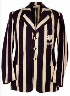 University Boxing Blazer 1930s / CASTELL From Photo the VINTAEGE MENSWEAR Book.