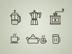 Coffee is the best. Drink Menu Icons by Matthias Deckx from Dribbble