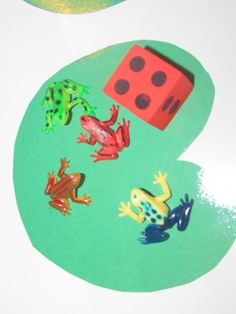 Lots of links about frog activities and songs on this site too!///Frogs on a Lilly Pad:Math Actvitiy