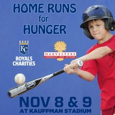 Fans who donate canned food items or make a cash donation to Harvesters will have the unique opportunity to take batting practice on the field and shag fly balls in the outfield.
