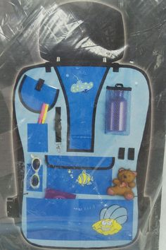 Car Seat Back Organizer Storage Childs Ocean Sea 8 Storage pockets Travel Stow  #AutoXS