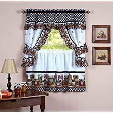 Shopping Cart Cottage Curtains, Cafe Curtains, Drapes Curtains, Valances, Mason Jars, Mason Jar Kitchen, Canning Jars, Kitchen Curtain Sets, Kitchen Curtains