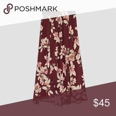 Zara Floral Skirt Zara Printed sarong-style skirt with an elastic waistband. Size Small. 98% polyester, 2% elastane. Brand new with tags! Zara Skirts Midi