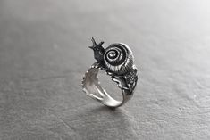 Your place to buy and sell all things handmade Funky Jewelry, Leaf Jewelry, Cute Jewelry, Silver Jewelry, Jewelry Accessories, Silver Rings, Hipster Grunge, Grunge Goth, Piercings