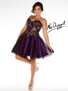 Plus Size Mac Duggal Prom Dress- This is pretty too :)