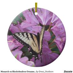 Shop Monarch on Rhododendron Ornament created by Great_Outdoors.