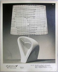 Beautiful Midcentury Lamps by Sculptureline