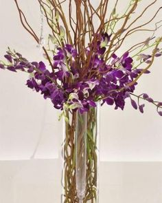 New wedding centerpieces with tall curly willow and fresh flowers. Curly Willow Centerpieces, Table Centerpieces, Wedding Centerpieces, Wedding Bouquets, Wedding Flowers, Wood Flowers, Fresh Flowers, Dried Flowers, Vase With Branches