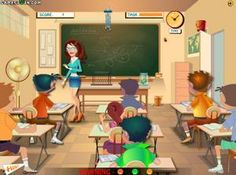 You don't need good marks to top this class, just a wicked mind! http://funnkidsgames.com/naughty-classroom/
