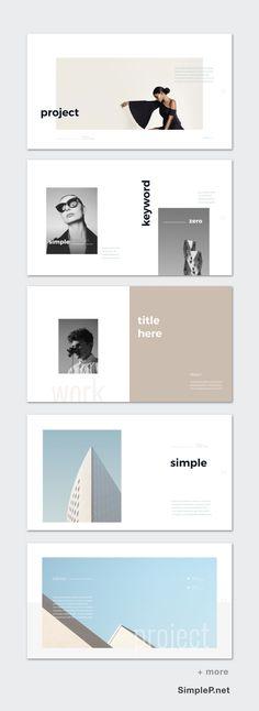 Zero Presentation PowerPoint Template #simple #minimal #portfolio #exhibition #photobook #simplep #blank #lookbook #mockup #tablet #ipad #slide #template #white #space #overview #keyword #idea #section