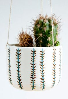 Handmade Ceramic Hanging Planter | noemarin on Etsy