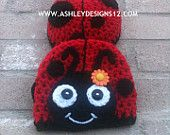 Crochet Pattern - Ladybug Baby Tushy Cover Set, Newborn Prop