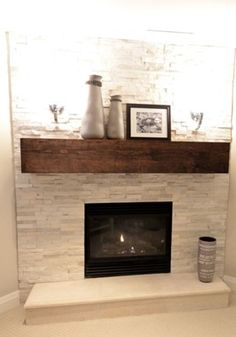 Fireplace mantels are commonly the focal point of the spaces they stay in. Learn ways to maximize them with these fireplace mantel concepts. Like with any type of screen, a mantel screen requires a particular amount of equilibrium and also proportion. Do not simply arbitrarily place things. Regardless of what you put on it, maintain these pointers in mind. Corner Gas Fireplace, Basement Fireplace, Fireplace Redo, Fireplace Remodel, Living Room With Fireplace, Fireplace Design, Fireplace Ideas, Fireplace Stone, Simple Fireplace
