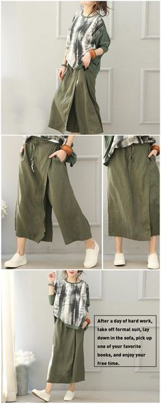 Full of taste in design? Yeah, both the color and the shape of the pants!  #BUYKUD#