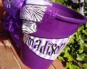 CHEER, camp, hand painted bucket.....wine bucket, gift basket, teacher gift,  great graduation gift,  wedding or bridal gifts ...
