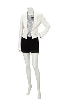 White suit jacket from Karen Millen.