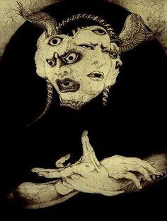 Shin Taga - Aguafuerte 1977 : Ignoria Art Et Illustration, Illustrations, Japanese Illustration, Arte Horror, Horror Art, Art Inspo, Art Noir, 8bit Art, Art Asiatique