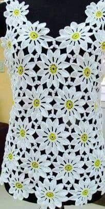 This Easy Crochet Flower For Beginners Is So Cute! Crochet Daisy, Crochet Flower Patterns, Crochet Motif, Irish Crochet, Easy Crochet, Crochet Flowers, Crochet Lace, Crochet Stitches, Crochet Tablecloth