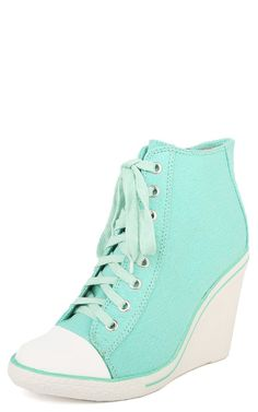 Ketson01a Lace Up Wedge Sneakers