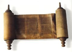 The Torah, the first five books of the Jewish Bible (also known as the Pentateuch in the Christian Bible): Bereshit (Genesis), Shemot (Exodus), Vayikra (Leviticus), Bamidbar (Numbers) and Devarim (Deuteronomy). These books contain the early history, mythology, laws and traditions of the Jewish people. Traditionally attributed to Moses ~1300 BCE, most biblical scholars now believe that the books were written between ~600-400 BCE.