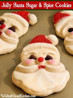 Old fashioned Jolly Santa Sugar & Spice Cookies