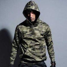 Green camo hoodie pullover design for teens casual Camouflage sweatshirts