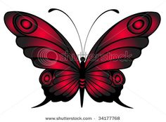 red and grey Butterfly Clip Art, Butterfly Drawing, Butterfly Tattoo Designs, Butterfly Pictures, Red Butterfly, Butterfly Painting, Butterfly Wallpaper, Butterfly Design, Beautiful Butterflies