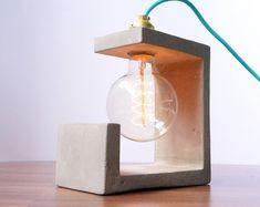Concrete Sculpture Lamp by ConcreteEverything on Etsy https://www.etsy.com/listing/237823988/concrete-sculpture-lamp