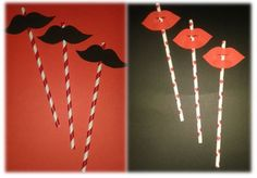 DIY straws, lips, mustaches - Joint bachelor and bachelorette party