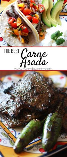 This authentic carne asada recipe is the only one you will want to make! A delicious marinade makes this the best carne asada! This authentic carne asada recipe is the only one you will want to make! A delicious marinade makes this the best carne asada! Authentic Taco Recipe, Authentic Carne Asada Recipe, Meat Recipes, Mexican Food Recipes, Cooking Recipes, Yummy Recipes, Yummy Food, Carna Asada Recipe, Best Carne Asada Recipe