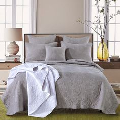 Dove by Macey and Moore - L O V E this coverlet. 100% Cotton comes with 2 Pillowcases.  #interiordesire #interiordesignideas #interiordetails #interiorandhome #interiorforinspo #deco #homedesign #homestyle #interiorstyle #interioerlovers #interior4all #interiorforyou #interiordecorating #interiorstylling #decoration #design #art #interiordesign #inspiration #homeimprovement #pillows #homewares #quiltcover #coverlet