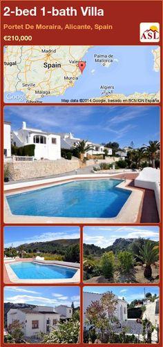 2-bed 1-bath Villa in Portet De Moraira, Alicante, Spain ►€210,000 #PropertyForSaleInSpain
