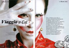 PAPERSELF Peacock lashes featured in Love Nails, Italy Sep- Oct 2011