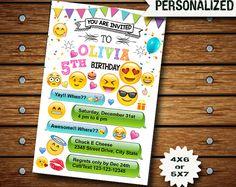 Emoji invitación / Emoji cumpleaños / fiesta Emoji / invitación de cumpleaños de Emoji / Emoji para imprimir / Emoji tarjeta Emoji invitan a / Emoji
