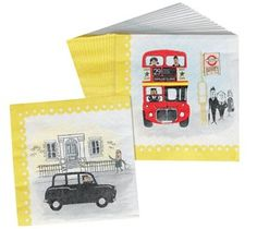 I Love London Party Napkins from Dotcomgiftshop