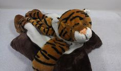 "Peek a Boo Bengal Tiger Pillow Stuffed Plush Jungle Kitty Cat Kitten Animal 16""  #PeekaBoo"