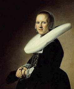 For both men and women, the infamous ruff started the century standing out from the neck like a starched platter, growing to enormous proportions before loosening and draping into a collar. It was soon replaced with the equally infamous wide, lace-trimmed white collar for both men and women.