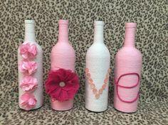 Valentine's Day theme wine bottle decor LOVE