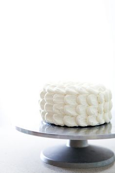 fluffy cloud cake - like it as the sides, but it would be fun to play around with a different top