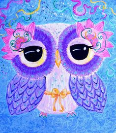 Owl Art - Celebration Of Life by Udonchow Cute Owl Art And Gifts, via Flickr