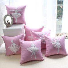 Cotton/Linen Cushion Cover Handmade Pillowcase with Lace Decorative Cushion Cover Sofa Car Seat Pillow Covers Pink Pillowcase Cute Pillows, Pink Pillows, Baby Pillows, Throw Pillows, Sofa Throw, Pink Cushion Covers, Cushion Cover Designs, Decorative Cushions, Decorative Pillow Covers
