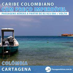 Passagens aéreas ida e volta de diversos destinos para o Caribe Colombiano por menos de R$1.000.  Compre através do link: http://www.passagemaerea.com.br/promocao-outubro-2013.html?utm_source=pinterest_medium=img_campaign=pinterest_cartagena