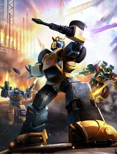 Autobot Bumblebee G1 Artwork From Transformers Legends Game