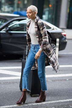 31 winter outfit ideas to try from the Victoria's Secret models street style moments: